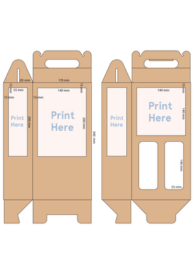 2 Bottle Carton - Custom Print