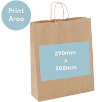 Large Carry Bag - Custom Print