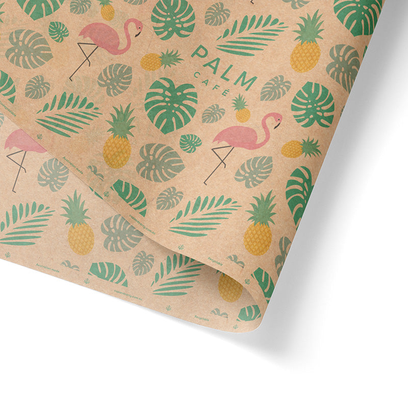 Custom Printed Brown Wrapping Paper 3+ Colours (500 x 750mm)