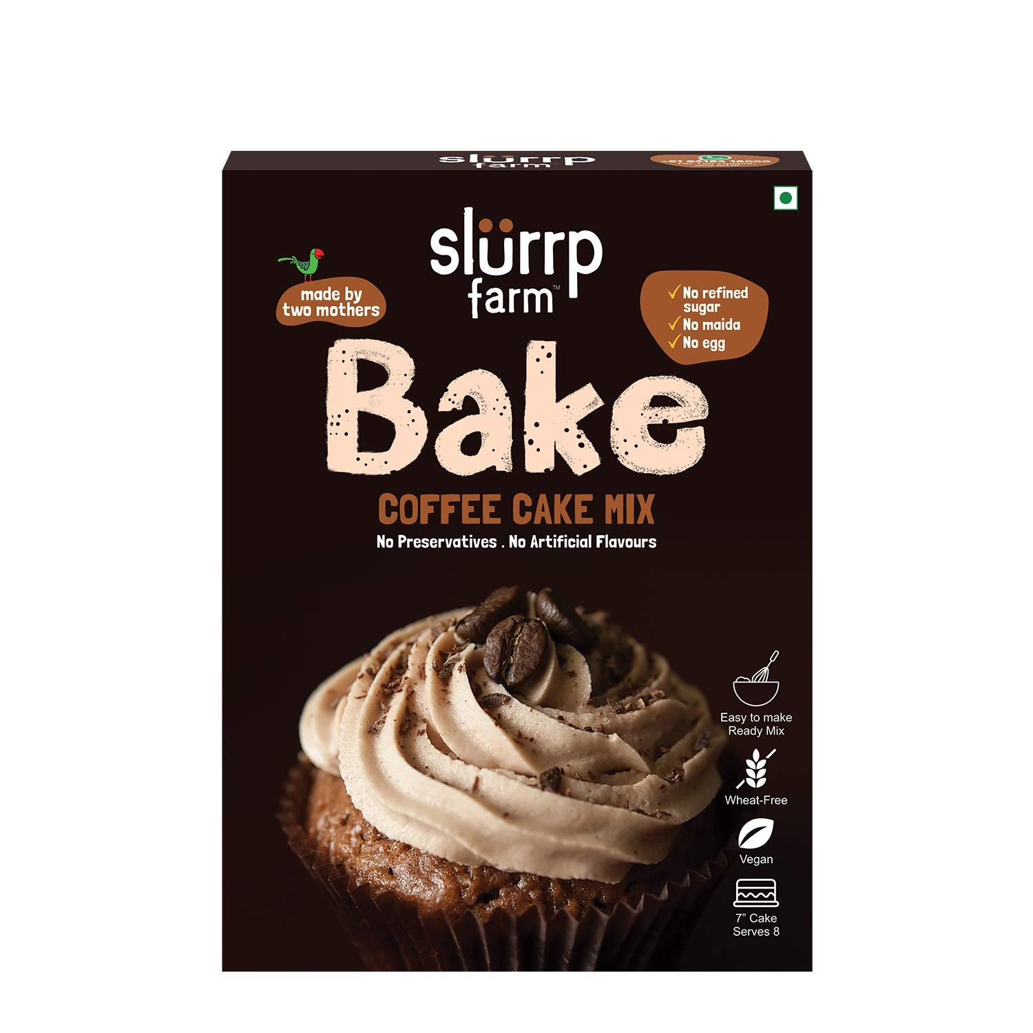 Coffee Cake Mix | Made with Millets | No Refined Flour | Raw unrefined sugar packed separately