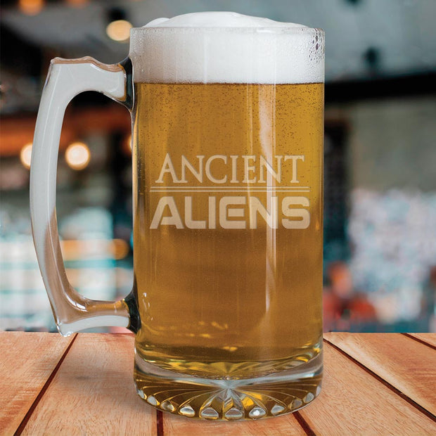 Ancient Aliens 25oz Beer Glass