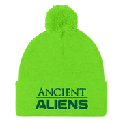 Ancient Aliens Logo Pom Pom Knit Beanie