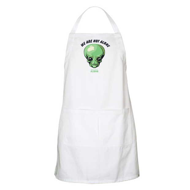 Ancient Aliens We are Not Alone Apron - With Pockets