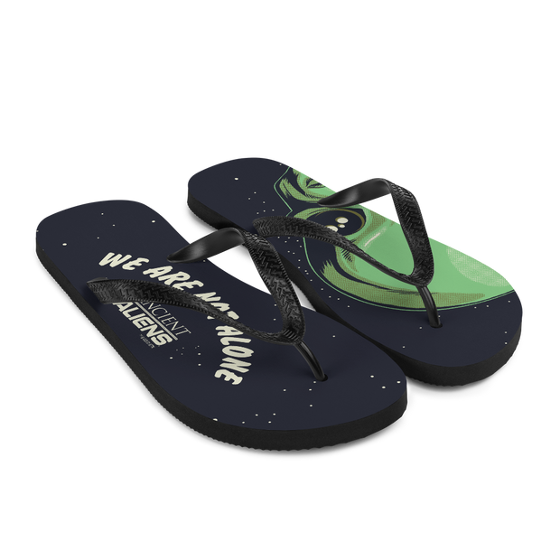 Ancient Aliens We are Not Alone Adult Flip Flops