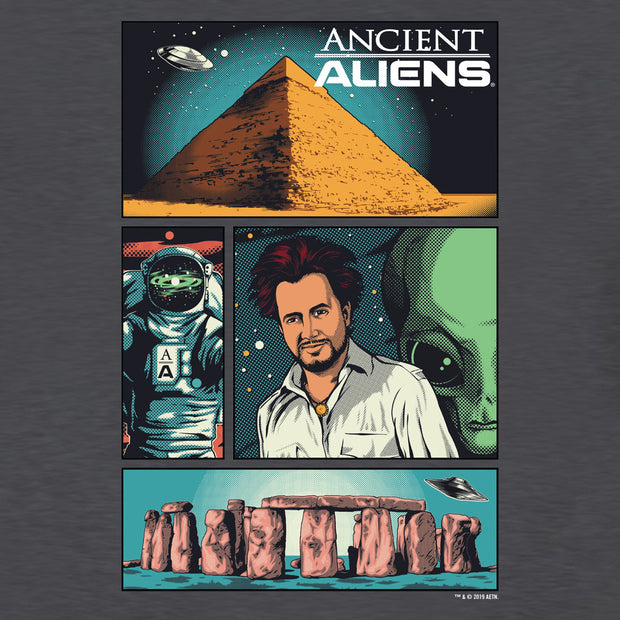 Ancient Aliens Comic Page Men's Short Sleeve T-Shirt
