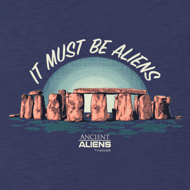 Ancient Aliens It Must Be Aliens Men's Tri-Blend Short Sleeve T-Shirt
