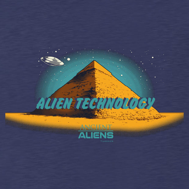 Ancient Aliens Alien Technology Men's Tri-Blend Short Sleeve T-Shirt