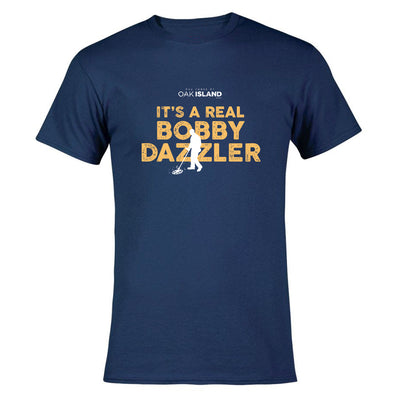 The Curse of Oak Island Real Bobby Dazzler Short Sleeve Navy T-Shirt