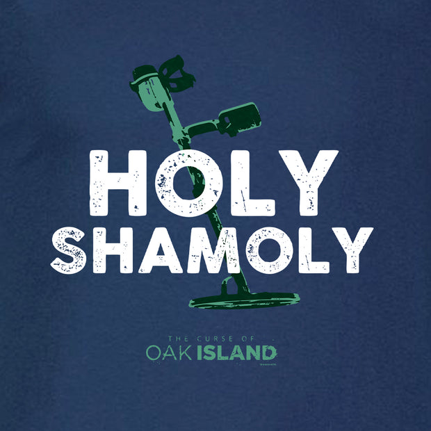 The Curse of Oak Island Holy Shamoly Short Sleeve Navy T-Shirt