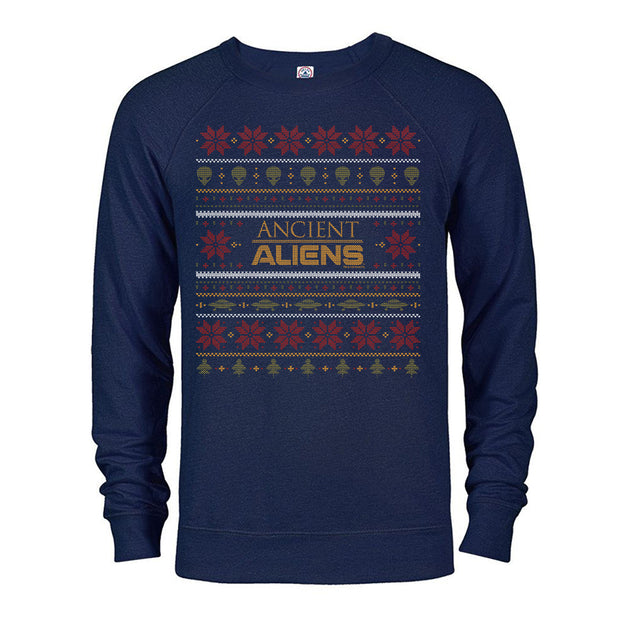 Ancient Aliens Holiday Lightweight Crewneck Sweatshirt