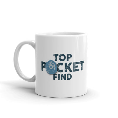 The Curse of Oak Island Top Pocket Find White Mug