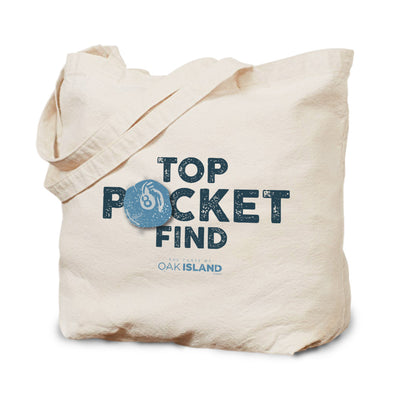 The Curse of Oak Island Top Pocket Find Canvas Tote Bag