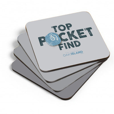 The Curse of Oak Island Top Pocket Find Coasters