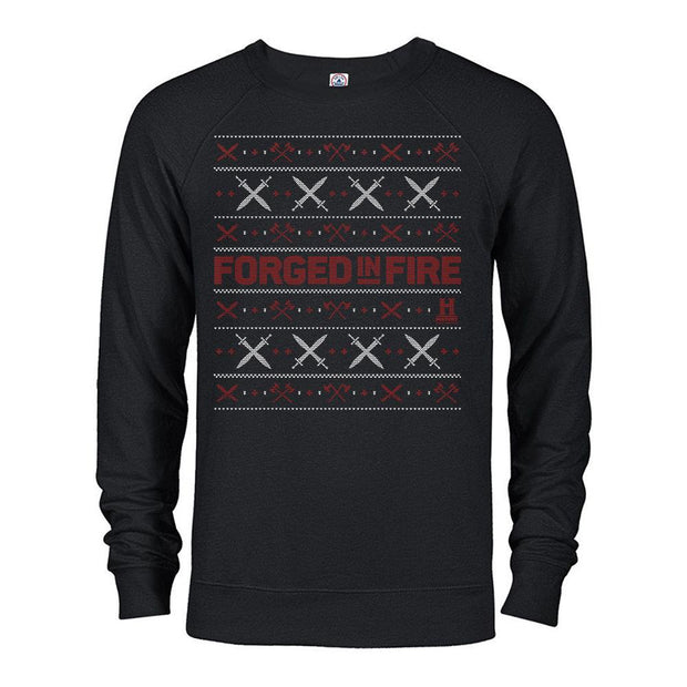 HISTORY Forged in Fire Series Holiday Lightweight Crew Neck Sweatshirt