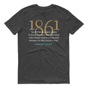 HISTORY Collection Abraham Lincoln Great Lesson of Peace Quote Adult Short Sleeve T-Shirt