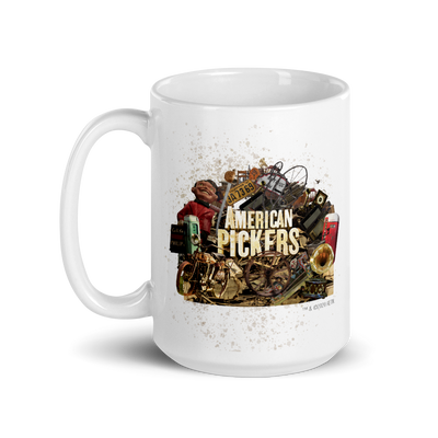 American Pickers Junkyard Treasures White Mug