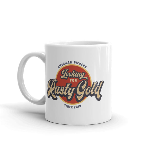 American Pickers Looking for Rusty Gold White Mug
