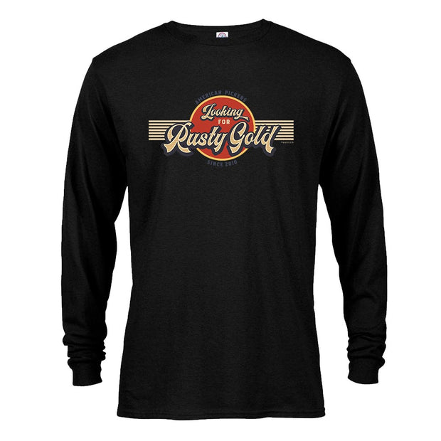 American Pickers Looking for Rusty Gold Circular Long Sleeve T-Shirt