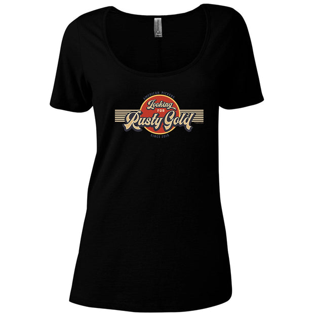 American Pickers Looking for Rusty Gold Circular Women's Relaxed Scoop Neck T-Shirt