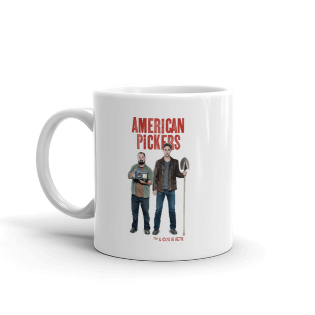 American Pickers Mike and Frank White Mug