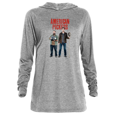 American Pickers Mike and Frank Tri-blend Raglan Hoodie