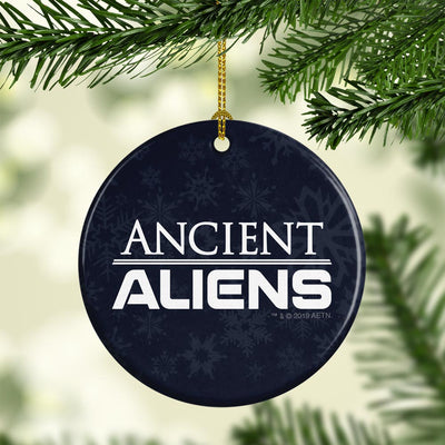 Ancient Aliens Logo Double-Sided Ornament