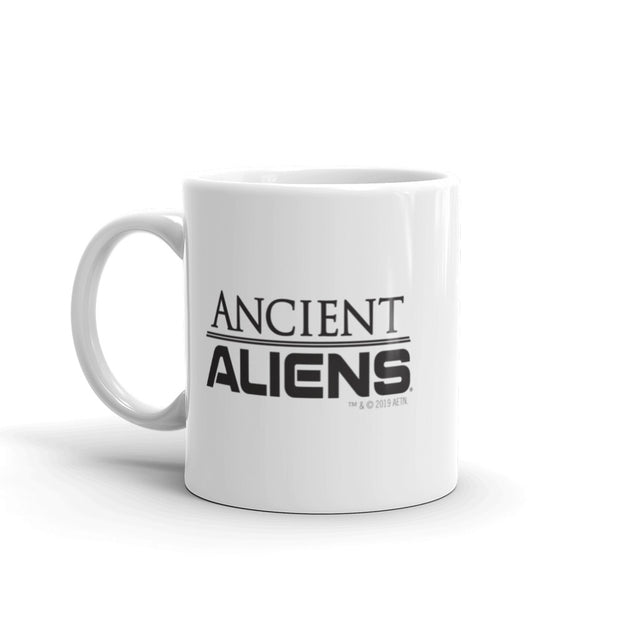 Ancient Aliens Symbol Logo White Mug