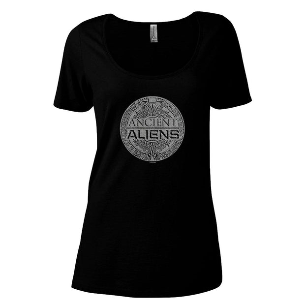 Ancient Aliens Symbol Logo Women's Relaxed Scoop Neck T-Shirt