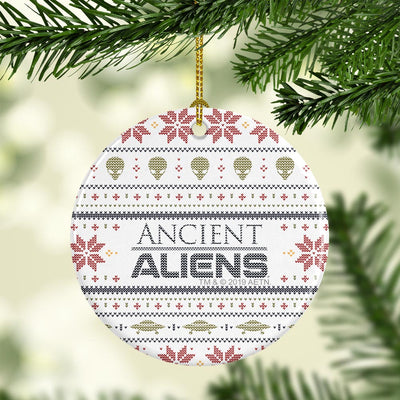 Ancient Aliens Holiday Double-Sided Ornament