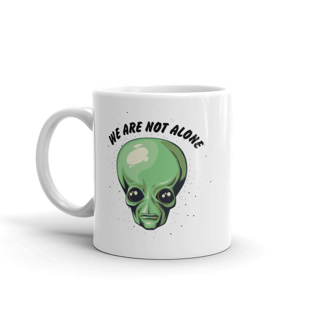 Ancient Aliens We are Not Alone White Mug