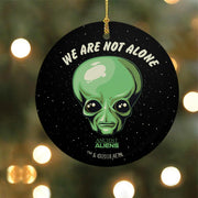 Ancient Aliens We are Not Alone Double-Sided Ornament