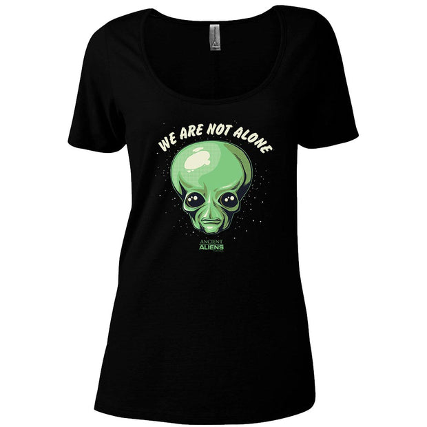 Ancient Aliens We are Not Alone Women's Relaxed Scoop Neck T-Shirt