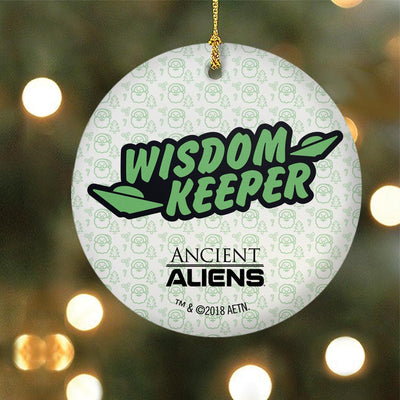 Ancient Aliens Wisdom Keeper Double-Sided Ceramic Ornament