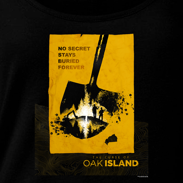 The Curse of Oak Island No Secret Stays Buried Women's Relaxed Scoop Neck T-Shirt