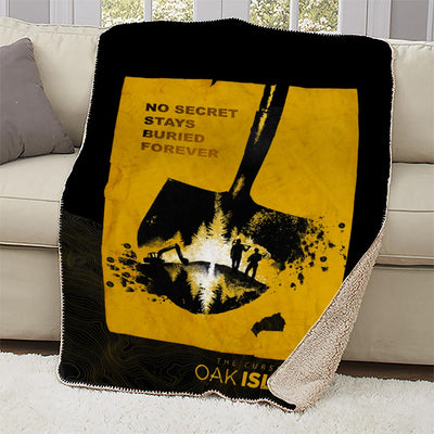 The Curse of Oak Island No Secret Stays Buried Sherpa Blanket