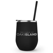 The Curse of Oak Island Logo Laser Engraved Wine Tumbler with Straw