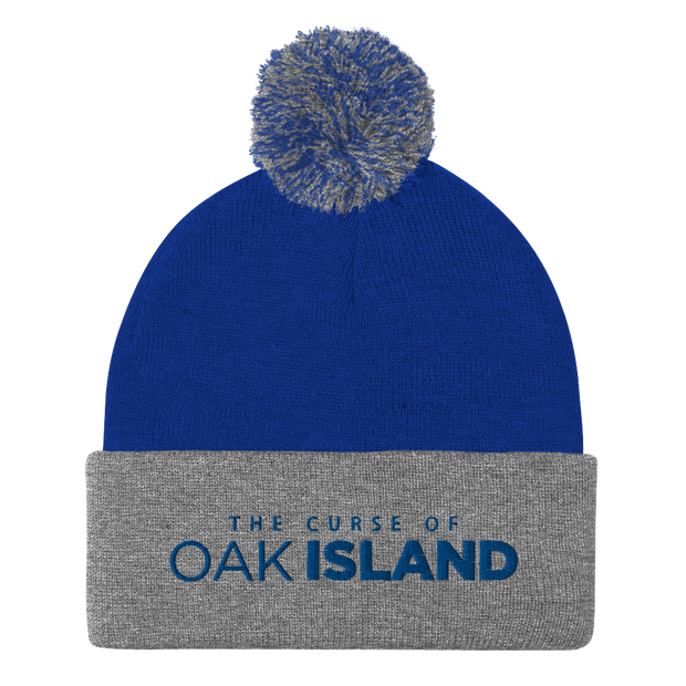 The Curse of Oak Island Logo Pom Pom Knit Beanie