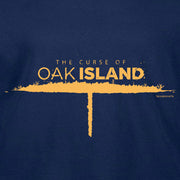 The Curse of Oak Island Logo Long Sleeve Navy T-Shirt