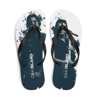 The Curse of Oak Island Rick and Marty Adult Flip Flops