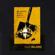 The Curse of Oak Island No Secret Stays Buried Adult Short Sleeve T-Shirt