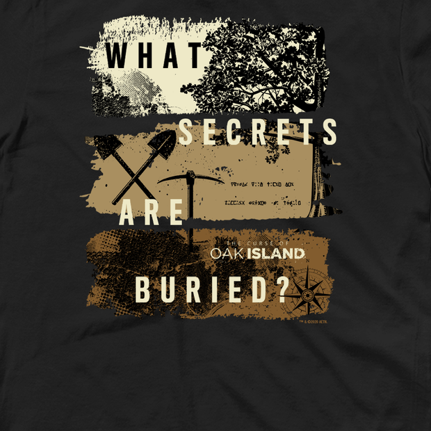 The Curse of Oak Island What Secrets Are Buried? Adult Short Sleeve T-Shirt