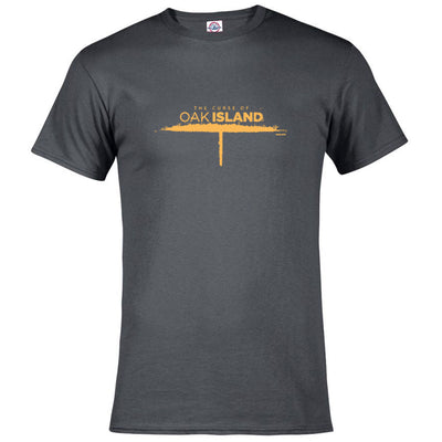 The Curse of Oak Island Logo Short Sleeve Charcoal T-Shirt
