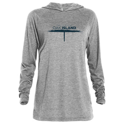 The Curse of Oak Island Tri-blend Raglan Hoodie