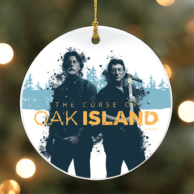 The Curse of Oak Island Rick and Marty Double-Sided Ornament