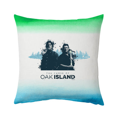 "The Curse of Oak Island Rick and Marty Pillow - 16"" X 16"""