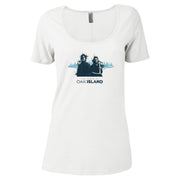 The Curse of Oak Island Rick and Marty Women's Relaxed Scoop Neck T-Shirt