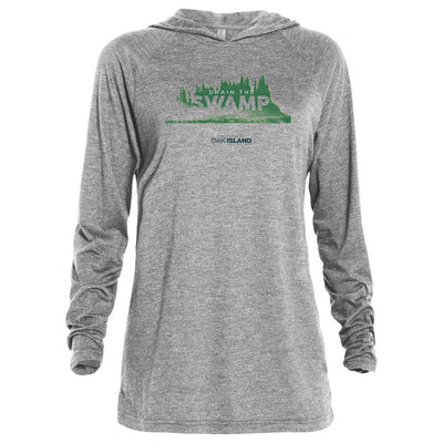 The Curse of Oak Island Drain the Swamp Tri-blend Raglan Hoodie