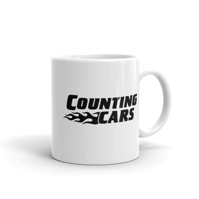 Counting Cars Logo White Mug