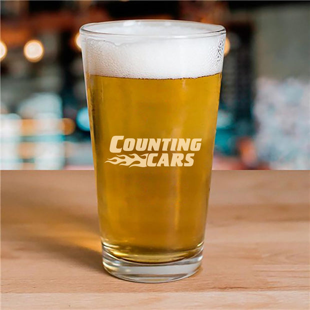 Counting Cars Logo 16oz Pint Glass