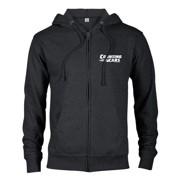 Counting Cars Logo Lightweight Zip Up Hooded Sweatshirt